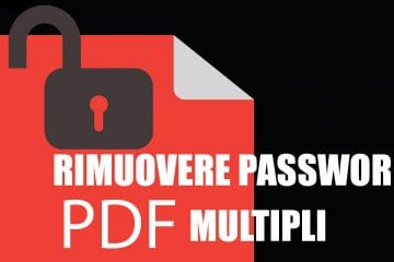 rimuovere password pdf
