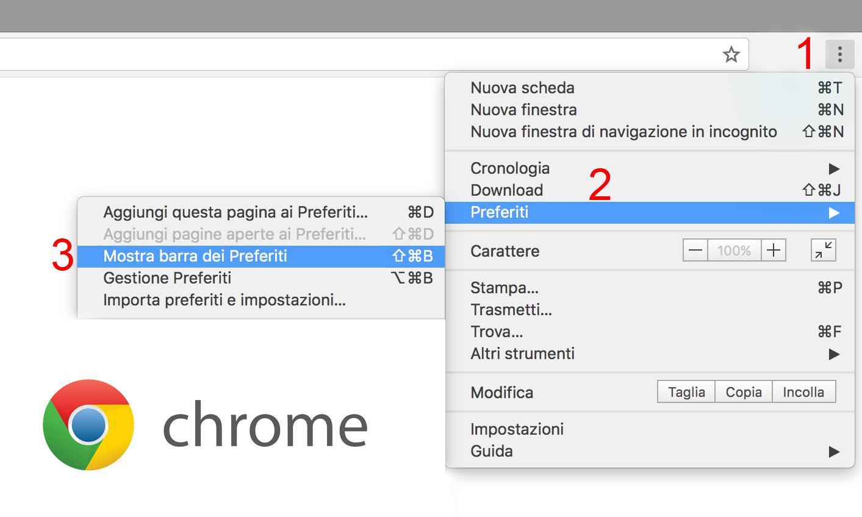 barra preferiti google chrome