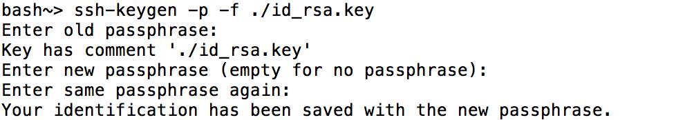 passphrase ssh